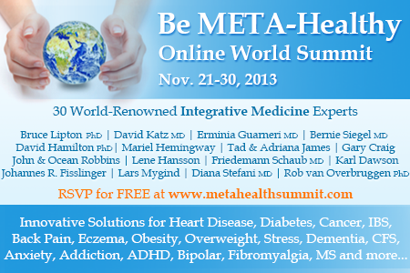 30 world-renowned New York Times Bestselling Authors, Celebrities and Health Experts www.metahealthsummit.com
