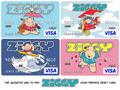 assorted Ziggy Prepaid Debit Cards