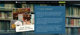 Lear Capital Launches a Comprehensive Online Library on Precious Metals Investing, Economic Trending, and Breaking Fisca…