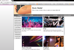 Screen Capture of Edge Music Network's Channel
