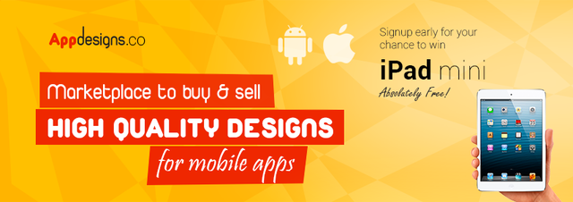 AppDesigns - Signup and Win Mini iPad Offer