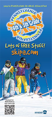PA Snowpass Program for 4th and 5th Graders for skiing and snowboarding.