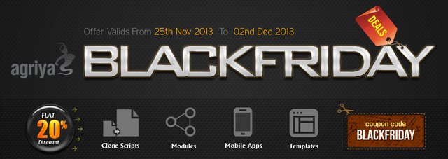 Agriya Black Friday Deal 2013 - Flat 20% Discount