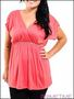 PLUS SIZE CORAL EMPIRE WAIST TOP-2-2-1