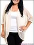 PLUS SIZE KHAKI KNIT OPEN FRONT CARDIGAN-2-2-1