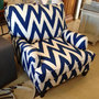 Room at the Beach Chevron Striped Chair
