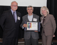 Outdoor Ventures President Bahman Azarm (center) accepts award at CELEBRATE CT! Event. (See CERC1 Caption in main text for detailed caption.)