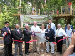 The Ribbon Cutting Ceremony for The Adventure Park at The Discovery Museum on July 16, 2012, (See detailed caption for CERC3 in main text.)