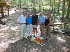 Connecticut Governor Dannel P. Malloy visited Outdoor Ventures' Adventure Park at Storrs on August 21, 2013. (For detailed caption see CERC4 main text body.)