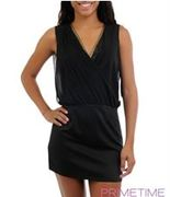 BLACK RHINESTONE CHIFFON DRESS-1-2-2-1
