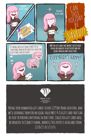 West & Co. Holiday Gift Card Exchange Comic