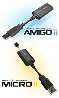 Turtle Beach® Announces Audio Advantage® Amigo II and Micro II USB Sound Cards for Mac® and Windows® PCs…