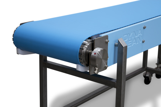 DynaClean food processing conveyor with new drum motor option