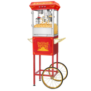 Red Good Time Full Cart Popcorn Popper by Great Northern Popcorn