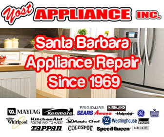 Same day service on Santa Barbara appliance repair services, washer and dryer repair, refrigerator repair, and garbage disposal repair.