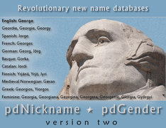 Peacock Data's new pdNickname 2.0 Pro and pdGender 2.0 Pro products include powerful fuzzy logic technology.