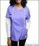 PURPLE WHITE SLEEVE SCRUB UNIFORM TOP/1-1-2-2