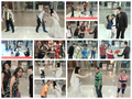 Mall-goers interact with Augmented Reality brides and grooms