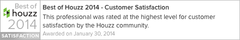 Best-Of-Houzz 2014 - Customer Satisfaction