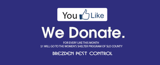 Pest Control Company Surpasses Donation Goal For Women's Shelter Program of SLO County