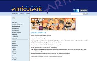 Articulate Fine Art Announces Innovative New Website