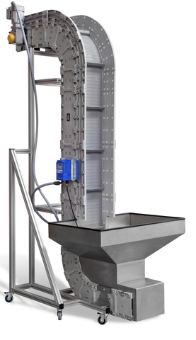 DynaCon Vertical Incline Conveyor offered by Dynamic Conveyor is ideal for space savings.