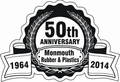 Monmouth Rubber and Plastics celebrates 50 years manufacturing closed cell sponge rubber and plastic foam.