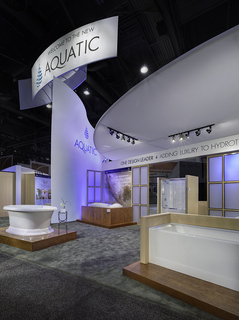 ProExhibits Wins New 30'X70' Custom Trade Show Exhibit Design & Build for Aquatic