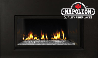 Napoleon Modern Gas Fireplace Insert - Modern Fireplace Insert With Exclusive CRYSTALINE™ Ember Bed From