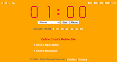 Mobile Timer on the Mobile Version of OnlineClock.net