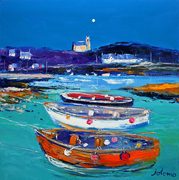 John Lowrie Morrison, Church and Boats, Arinagour, Isle of Coll
