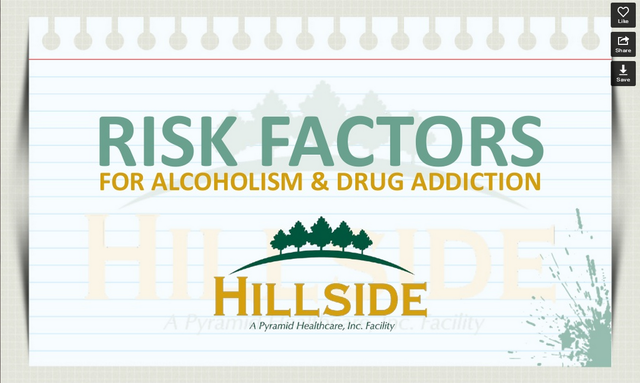 Hillside Slide Show: Risk Factors for Alcoholism & Drug Addiction
