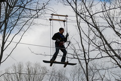 """Snowboarding"" through the air at The Adventure Park"