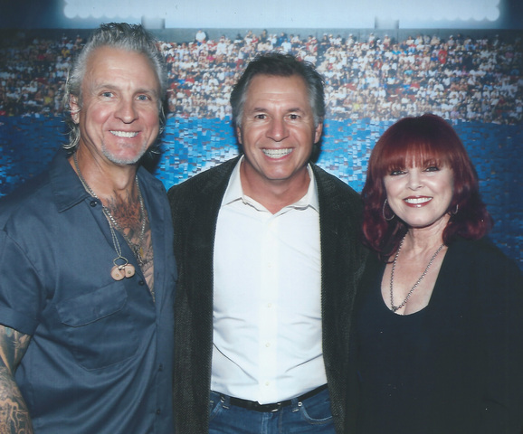 Epic Entertainment owner Ray Gosselin flanked by Neil Giraldo and Pat Benatar.