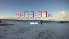Online Alarm Clock with a Virtual Ocean Waves Background
