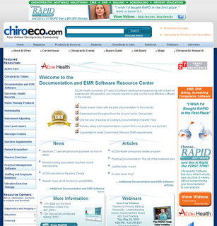 ACOM Health Sponsors Chiropractic Documentation and EMR Software Resource Center at ChiroEco.com