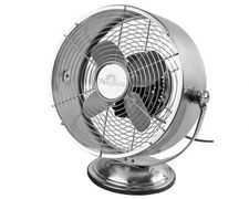 Fantasia Retro Brushed Nickel Desk Fan