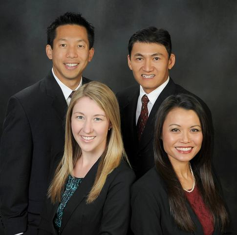 Doctors of Optometry at EyeLux Optometry. Clockwise from upper left, Brian Chou, O.D., Kelvin Nguyen, O.D., Jacquelin Le, O.D., and Kimberly Michel, O.D.