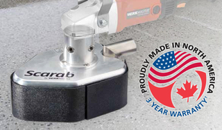 WerkMaster Releases New DIY Video On Removing Epoxy Paint And Polishing Concrete With Scarab Handheld Grinde…