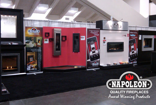Napoleon Fireplace booth at PCBC Show