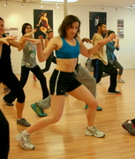 Kathy Gruver takes hip-hop dance classes several times a week.
