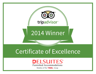Delsuites Awarded 2014 TripAdvisor Certificate of Excellence