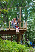 Zip lines are just part of the fun at The Adventure Park.