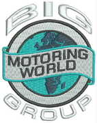 Big Motoring World - Embroidery example