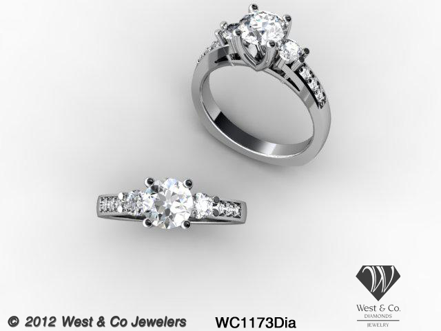 A Dave West Nytch custom designed engagement ring.