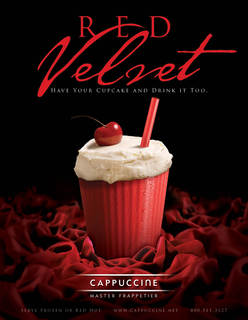 "Cappuccine Launches NEW ""Red Velvet Frappe"""