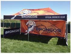 Denver Broncos 10'x20' custom event tent.