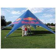 Red Bull Star Shade 400 with seating for up to 44 people.