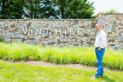 Ed Moore, Principal, at the entrance of Vint Hill.