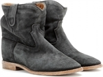 CRISI CONCEALED WEDGE SUEDE ANKLE BOOTS
